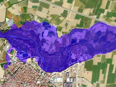 Mancha de Inundacion en nucleo urbano