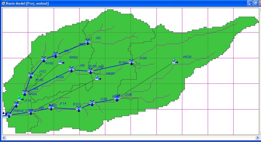 Cuenca Hidrologica calculada con HEC-HMS