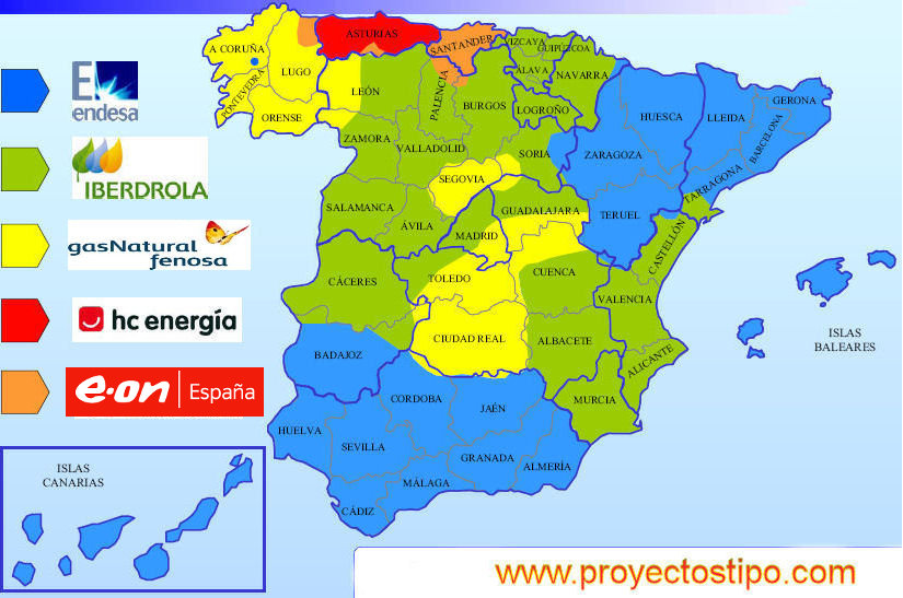 Mapa-electrico por COMPAÑIAS